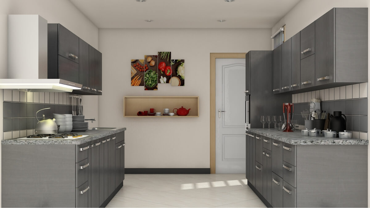 Parallel Kitchens by Sunrise Kitchen World Best in LAMINATE SHUTTER ...