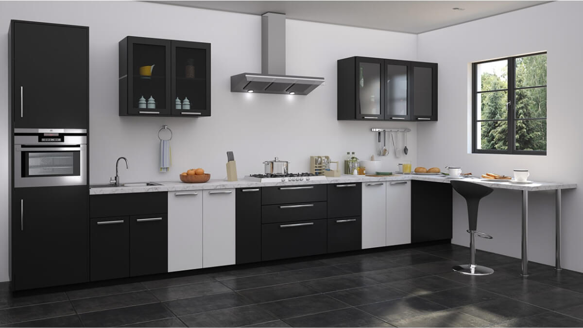 Straight Kitchens by Sunrise Kitchen World Best in LAMINATE SHUTTER ...
